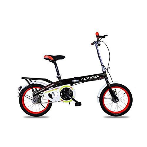 XQ 1618URE Vélo Pliant pour Enfants 12 Pouces Adulte Seule Vitesse Amortissement Vélo étudiant (Couleur : Noir)