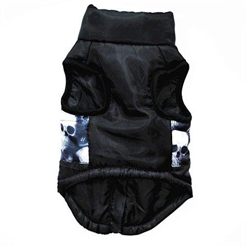 Hmeng Katze Hundemantel Jacke Haustierbedarf Kleidung Winter Bekleidung Welpen Kostüm Mode (L, (Mode Schwarz Kostüme)