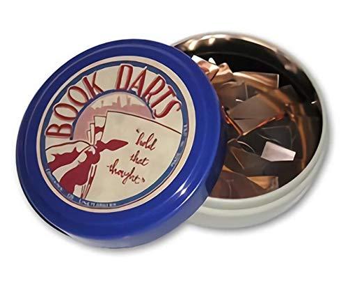 Book Darts Line Markers 125 Count Tin Mixed Metals by Book Darts (Darts Line)