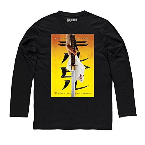 Official Kill Bill Vol 2 Here Comes The Bride Langarmshirt, Herren Schwarz