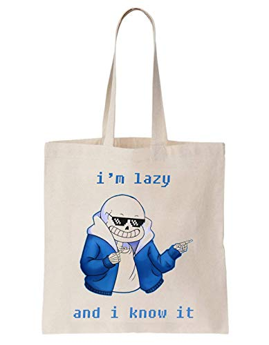 PasTomka I'm Lazy And I Know It Schultertasche Tote Bag