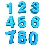 Xshuai Silikon Backen Anzahl Kuchenform Backformen für Hochzeit Geburtstag Jubiläum (Blau)