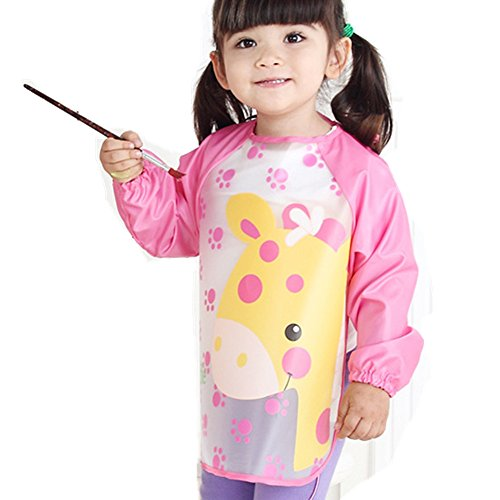 Newsbenessere.com 41V2Zm3T-bL Frbelle® - Grembiule/camicia da pittura impermeabile antiusura con maniche lunghe per bambini da 1 a 5 anni