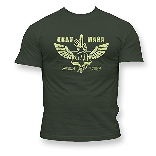 Krav Maga Herren Men's T-Shirt K49 (L) (T-shirt Maga Krav Herren)