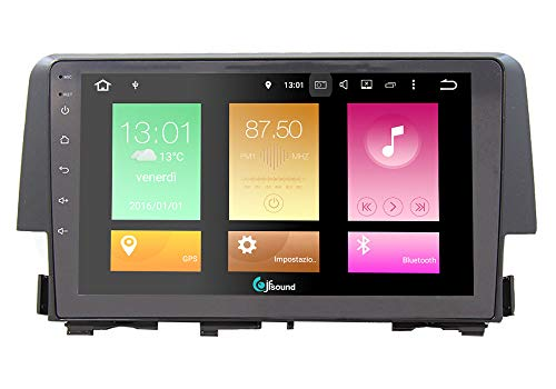 AUTORADIO CUSTOM FIT JF SOUND ANDROID 8.0 HONDA CIVIC EASY 8CORE OCTACORE CONNECT GPS BLUETOOTH