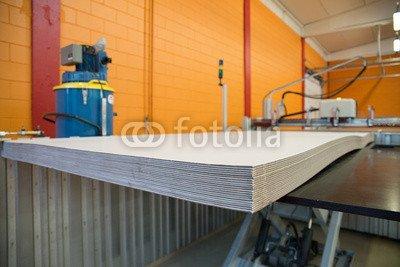"Leinwand-Bild 90 x 60 cm: ""Flatbed cutter/router (cutting plotter)"", Bild auf Leinwand"