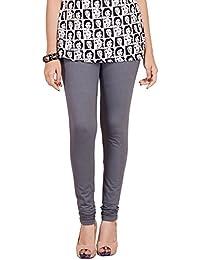 Selenas Womens Cotton Leggings(S10_Grey_Free Size)