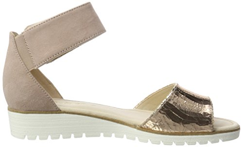 Gabor Shoes Damen Fashion Knöchelriemchen, Gelb (Rame/Antikrosa 64), 44 EU -