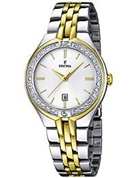 Festina - F16868-1 - Montre Femme - Quartz Analogique - Cadran Blanc - Bracelet Acier Multicolore