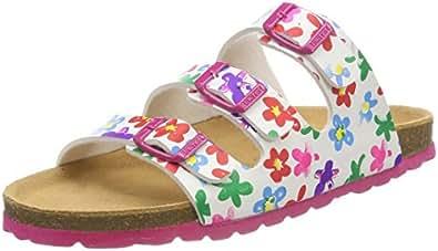 Richter Kinderschuhe Mädchen Bio Pantoffeln, Weiß (White), 37 EU