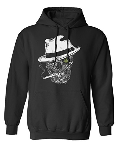 Ganja Gangster Scelta di con cappuccio o un maglione Skull Hipster Uomo Donna Unisex (Hoodie) Black