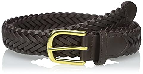 Aquarius Boys' Leather Braided Uniform Dress Belt, Small,