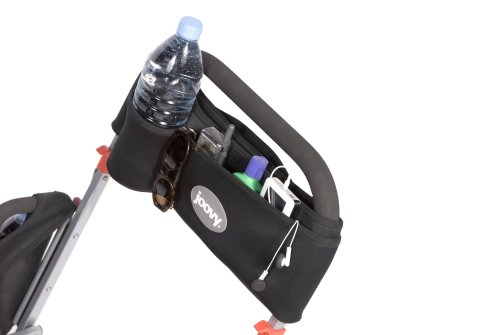 JOOVY Caboose Parent Organizer Joovy 2 cup holders 1 front pocket for storing keys, cell phone, etc 1 rear zippered pocket 2