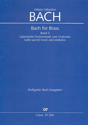 BACH FOR BRASS 3   BRASS INSTRUMENTS   BOOK