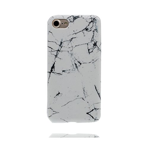 Copertura iPhone 7, iPhone 7 Copertura, Design morbido / Marmo Design / CASE Slot Flexible Snap su COVER in pietra naturale per iPhone 7 (4.7 ) / bianca + Nero bianca + Nero