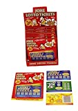 Ardisle 3 Fake Lottery Lotto Scratch Card Boys Toy Stocking Filler Chrismtas Gift Prank