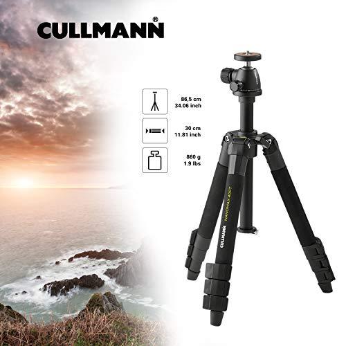 Cullmann Nanomax 400T - Trípode portátil (hasta 86.5 cm), negro