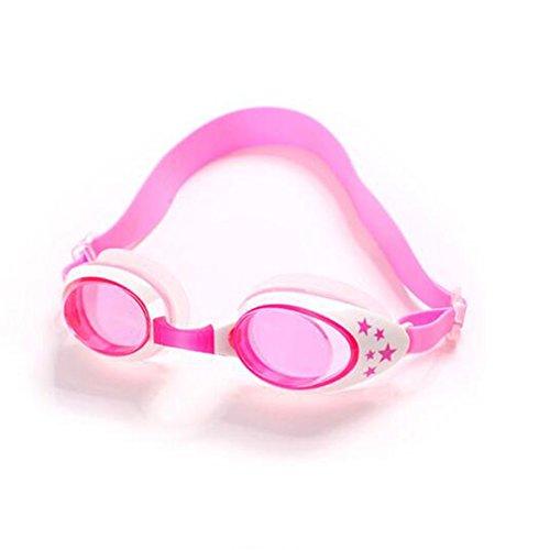 BYCSD Schwimmbrillen Anti-Fog Kinder Schwimmbrille Baby 3-10 Jahre alt Lernen, Gläser zu Schwimmen (Farbe : Rosa)
