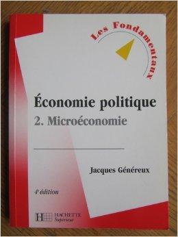 Economie politique : Tome 2, Microécono...