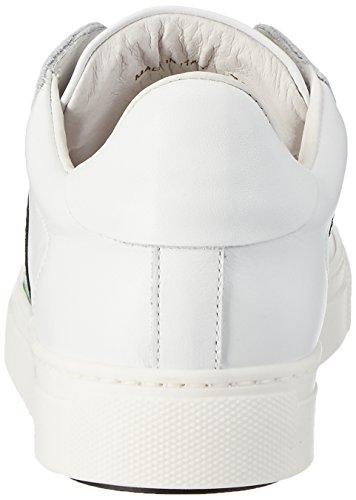 Stokton 650-d, Scarpe da Ginnastica Basse Donna Bianco (Bianco+ Verde)