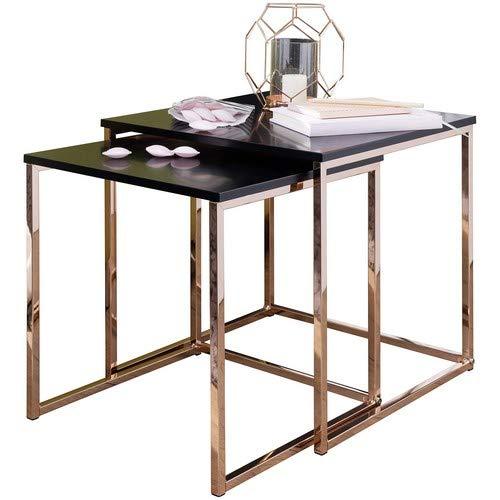 Tavolino Da Salotto In Legno.Wohnling Cala Tavolino Da Salotto Legno Rame Breite Hohe 42 39 Tiefe 40 35 Cm