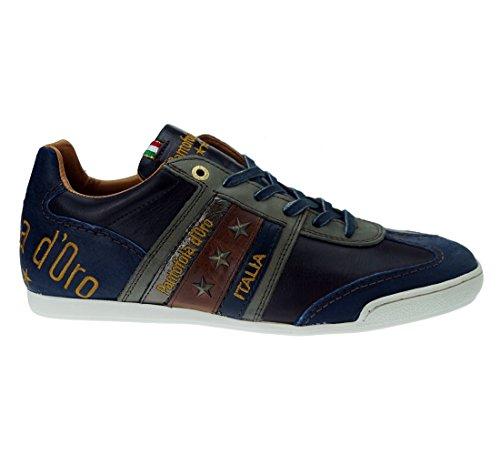 Pantofola d'ascoli piceno low oro - Bleu marine
