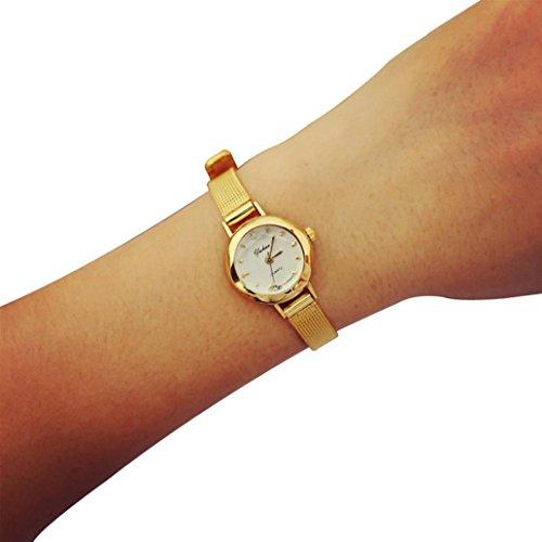 Armbanduhr Damen Uhr Xinnantime Kleine Zifferblatt Exquisite Analoge Quarz Damenuhr Frauen Gold (Standard, Gold)