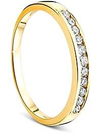 Orovi Memoire women's engagement/wedding ring in 14 carat (585) yellow gold with 0.20 carat diamonds