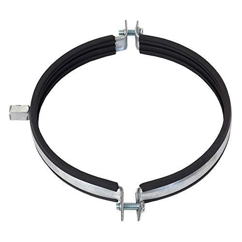 Abrazadera de tubo de 100 mm de diámetro, junta de goma, soporte para tubo, ventilador