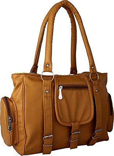 S.K Zone Women's PU Leather Handbag (CKRK101, Mustard) (Today Offer Deal of the Day)