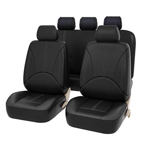 AUTO HIGH - Coprisedili Universali per Auto, Set Completo di Fodere per Seggiolino Auto, Protezioni per la Parte Anteriore e Posteriore del Sedile in Pelle Sintetica Premium, 11 Pezzi, Nero #1