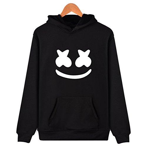 SIMYJOY Unisex Marshmello Fans Hoodie DJ Pullover Electronic Music EDM Cool Sweatshirt for Men Women Teen