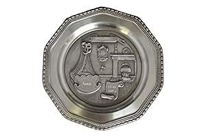 Assiette en étain pour naissance ou baptême avec gravure