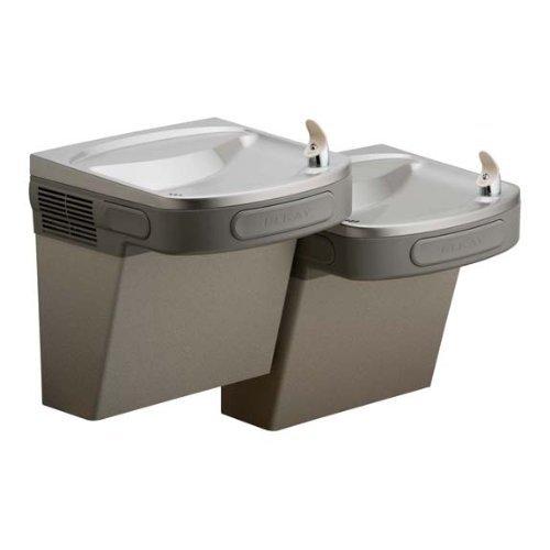 Elkay Drinking Fountain 8 GPH ADA Compliant Barrier Free Bi-Level - Light Gray Granite by Elco Lighting