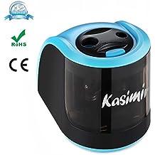 Sacapuntas Electrico Kasimir Profesional Automática Afilador 2 Diferentes Tamaños Agujero Eficiente Ideal para Hogar y Oficina Azul