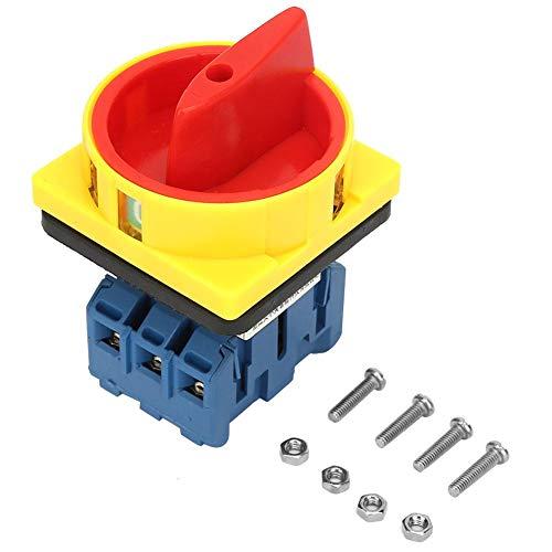 32A 3P Hauptschalter,Dreipoliger 2-Positions-Nocken Lasttrennschalter Ein-Aus-Schalter Lasttrennschalter-Drehschalter für Werkzeugmaschinen,Maschinen,Chemikalien,Textilien(32A)