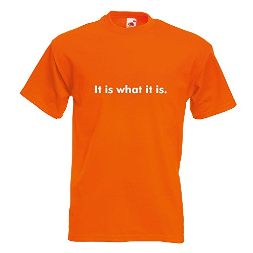 ... verschiedenen Farben - Herren Funshirt bedruckt Design Sprüche Spruch  Motive Oberteil Baumwolle Print Größe S M L XL XXL Orange. KIWISTAR - It is  what ...