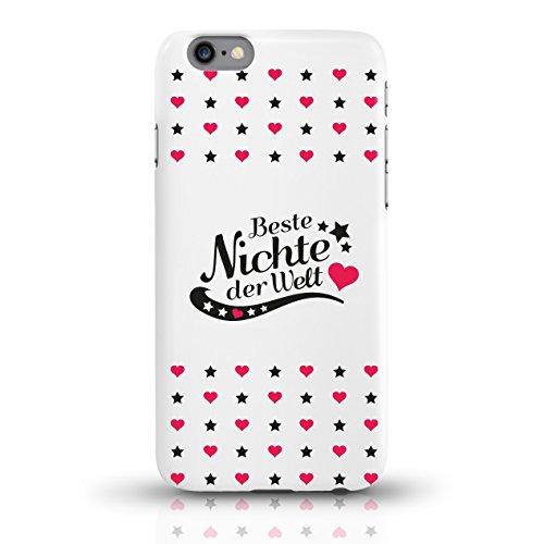 """JUNIWORDS Handyhüllen Slim Case für iPhone 6 / 6s mit Schriftzug """"Beste Nichte der Welt"""" - ideales Weihnachtsgeschenk für die Nichte - Motiv 4 - Handyhülle, Handycase, Handyschale, Schutzhülle für Ihr motiv 4"""