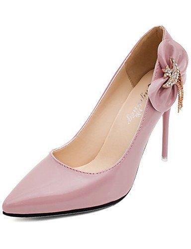 WSS 2016 Chaussures Femme-Soirée & Evénement-Noir / Marron / Rose / Rouge / Blanc-Talon Aiguille-Bout Pointu-Talons-Polyuréthane black-us6 / eu36 / uk4 / cn36