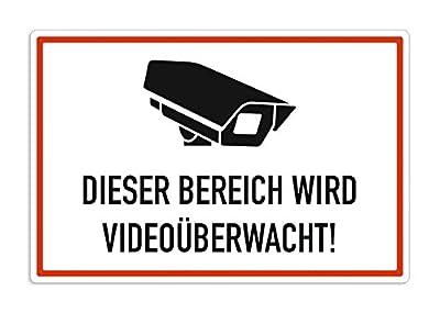 Schild Videoüberwachung, Bereich wird videoüberwacht, 30x20cm, Aluverbund, wetterfest