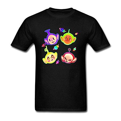 Teletubbies Funny Design T-shirt for Men - Black or White - L/XL