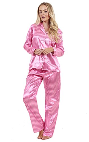 ladies-stunning-printed-satin-pyjamas-womens-long-sleeve-nightwear-silk-pjs-size-small-uk-10-12