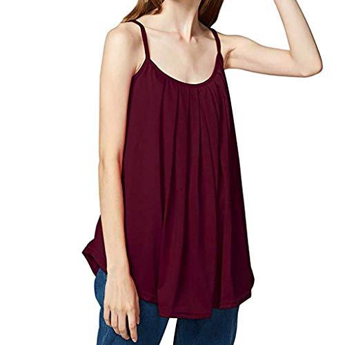 KIMODO Damen Lose ärmellose Tank Top Einfarbig Camisole Weste Plus Size T-Shirt Bluse Sommer Oberteile Große ()