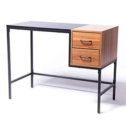 Cazedis Yale Schreibtisch, Nussbaum, mehrfarbig -