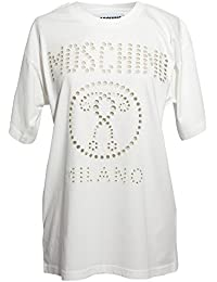 Moschino Femme J07045403001 Blanc Coton T-Shirt
