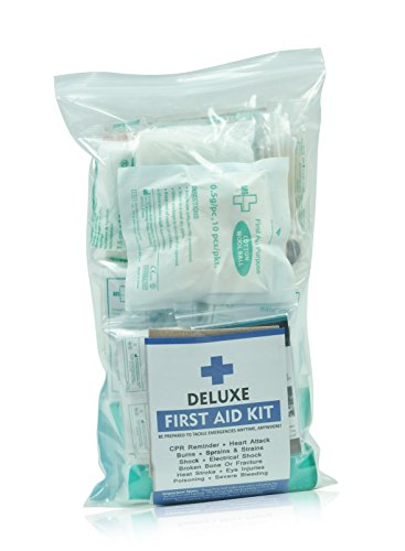 160 Piece First Aid Kit Bag Refill Kit - Includes 2 x Eyewash,2 x Instant Cold Pack, Bandage, 6 x Cleaning Towelette for Travel, Home, Office, Car, Camping, Boat, Workplace 2