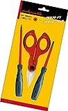 Intercable 16020 Futur 2 Set F1 composé d'1 paire de ciseaux pour dénuder et couper les câbles et de 2 tournevis, emballé sous-vide