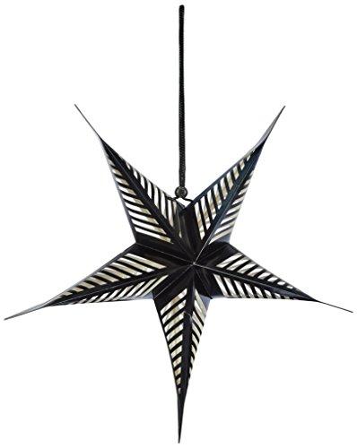 American Crafts Heidi Swapp 5 Star Lanterne en papier 43 cm Noir, acrylique, multicolore