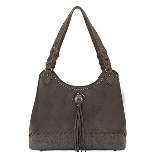Banadana From American West  Êhobos & Shoulder Bags,  Damen Hobo Bags , braun - Chocolate Guns And Roses - Größe: One Size (West American Handtasche)