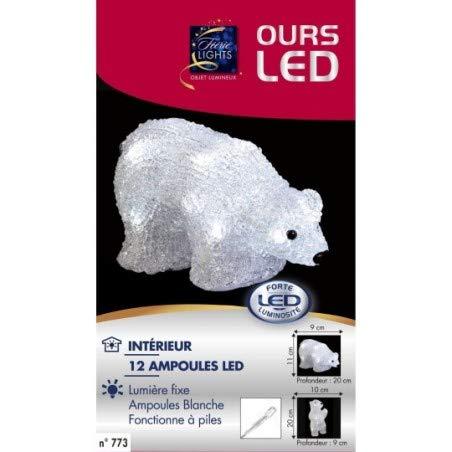 Féerie Lights Ours Lumineux couché 12 LED